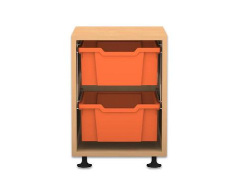 Flexeo Regal PRO 1 Reihe 2 grosse Boxen