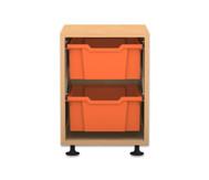 Flexeo Regal PRO, 1 Reihe, 2 große Boxen