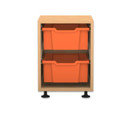 Flexeo Regal PRO, 1 Reihe, 2 große Boxen, HxBxT: 54,7 x 37,7 x 48 cm