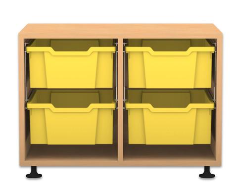 Flexeo Regal PRO 2 Reihen 4 grosse Boxen