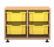 Flexeo Regal PRO, 2 Reihen, 4 große Boxen