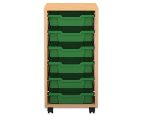 Flexeo Regal PRO 1 Reihe 6 kleine Boxen HxBxT 769 x 377 x 48 cm