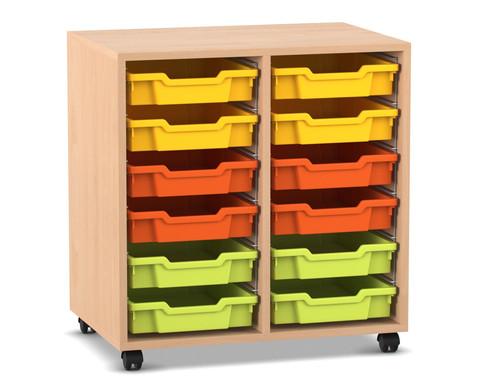 Flexeo Regal PRO mit 2 Reihen und 12 Boxen Gr S