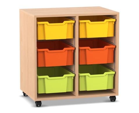 Flexeo Regal PRO 2 Reihen 6 grosse Boxen