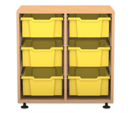 Flexeo Regal PRO, 2 Reihen, 6 große Boxen