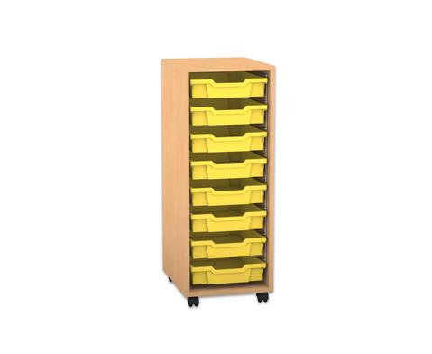 Flexeo Regal PRO 1 Reihe 8 kleine Boxen HxBxT 991 x 377 x 48 cm