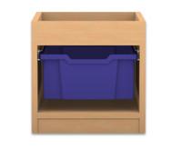 Flexeo Regal PRO mit 1 Reihe, 1 großen Boxen und Aufkantung