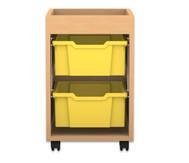 Flexeo Regal PRO mit 1 Reihe, 2 großen Boxen und Aufkantung