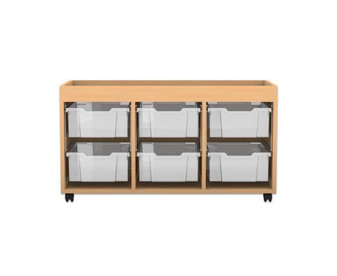 flexeo regal pro mit 3 reihen 6 gro en boxen und. Black Bedroom Furniture Sets. Home Design Ideas