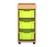 Flexeo Regal PRO, 1 Reihe, 3 große Boxen, mit Aufkantung, HxBxT: 82,9  x 37,7 x 48 cm