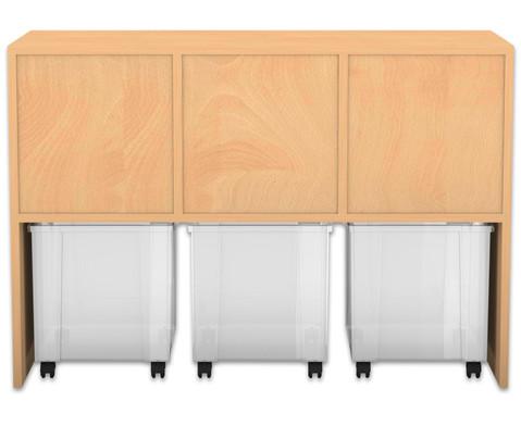Flexeo Regal PRO mit 3 Reihen 6 gemischten und 2 fahrbaren Boxen-3