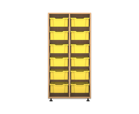 Flexeo Regal PRO 2 Reihen 12 grosse Boxen HxBxT 1439 x 731 x 48 cm