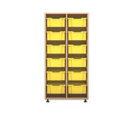 Flexeo Regal PRO, 2 Reihen, 12 große Boxen, HxBxT: 143,9 x 73,1 x 48 cm