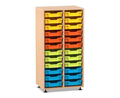 Flexeo Regal PRO 2 Reihen 24 kleine Boxen H x B x T 1439 x 731 x 48 cm