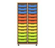 Flexeo Regal PRO, 2 Reihen, 24 kleine Boxen HxBxT: 143,9 x 73,1 x 48 cm