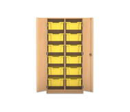 Flexeo Regalschrank PRO, 2 Reihen, 12 große Boxen, HxBxT: 143,9 x 73,1 x 50 cm