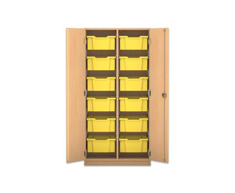 Flexeo Schrank PRO 2 Reihen 12 grosse Boxen HxBxT 1439 x 731 x 50 cm-1