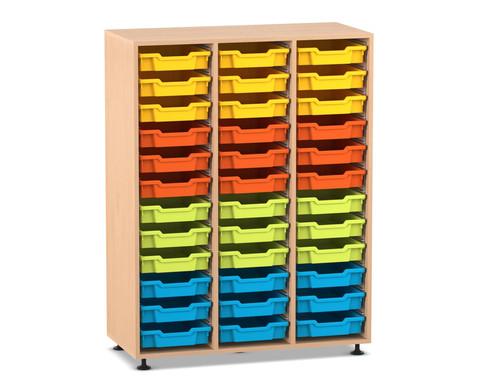 Flexeo Regal PRO 3 Reihen 36 kleine Boxen Hoehe 1439 cm
