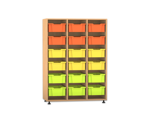 Flexeo Regal PRO 3 Reihen 18 grosse Boxen HxBxT 1439 x 1085 x 48 cm