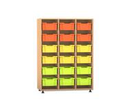 Flexeo Regal PRO mit 3 Reihen und 18 großen Boxen