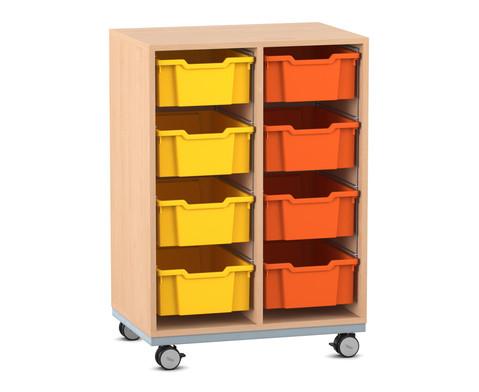 Flexeo Regal Pro mit Stahlrahmen 2 Reihen 8 Boxen