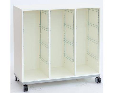Flexeo Regal Pro mit Stahlrahmen 3 Reihen 12 Boxen-3