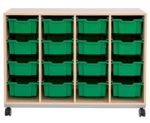 Flexeo Regal Pro mit Stahlrahmen 4 Reihen 16 Boxen-7