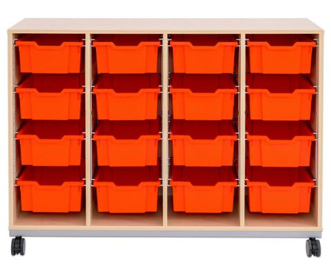Flexeo Regal Pro mit Stahlrahmen 4 Reihen 16 Boxen-10