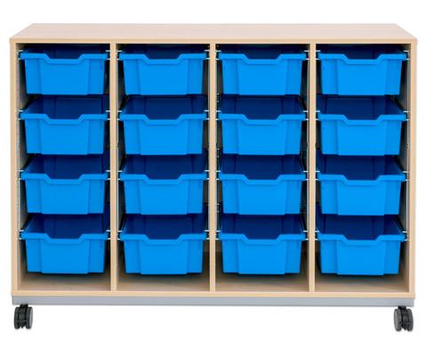 Flexeo Regal Pro mit Stahlrahmen 4 Reihen 16 Boxen-12