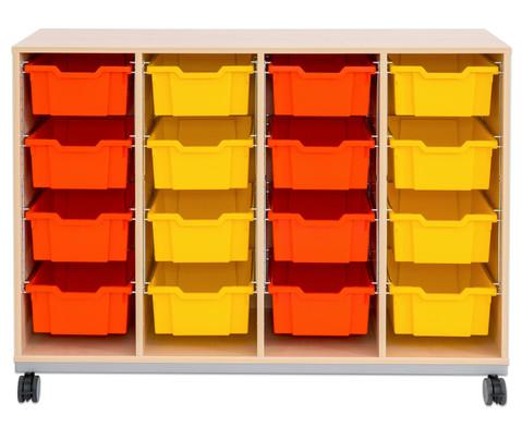 Flexeo Regal Pro mit Stahlrahmen 4 Reihen 16 Boxen-14