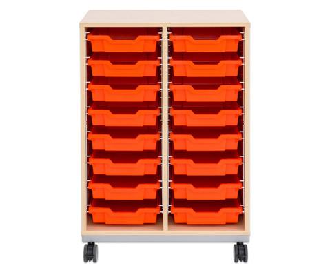 Flexeo Regal Pro mit Stahlrahmen 2 Reihen 16 kleine Boxen-2