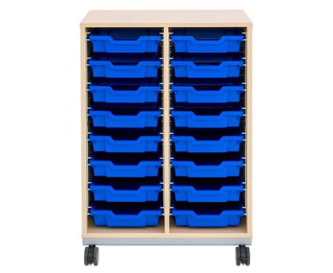 Flexeo Regal Pro mit Stahlrahmen 2 Reihen 16 kleine Boxen-3