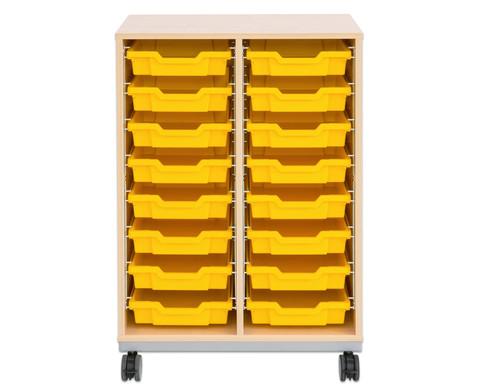Flexeo Regal Pro mit Stahlrahmen 2 Reihen 16 kleine Boxen-4