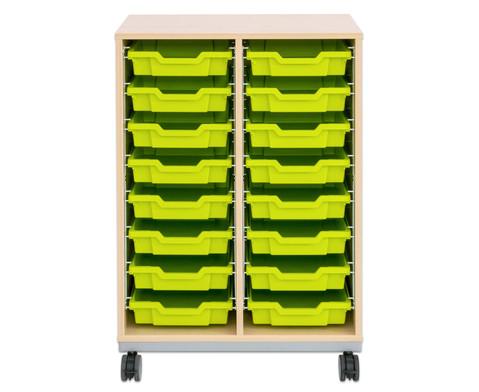 Flexeo Regal Pro mit Stahlrahmen 2 Reihen 16 kleine Boxen-5