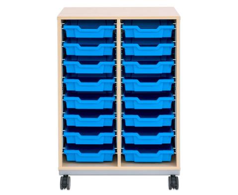 Flexeo Regal Pro mit Stahlrahmen 2 Reihen 16 kleine Boxen-7