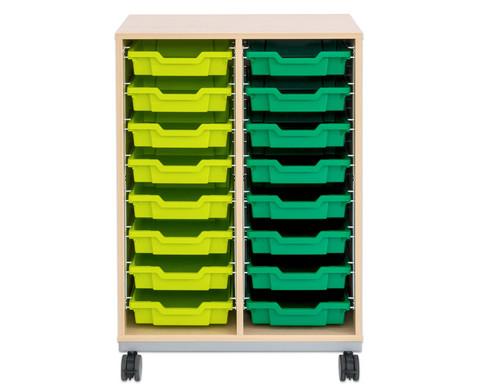 Flexeo Regal Pro mit Stahlrahmen 2 Reihen 16 kleine Boxen-9