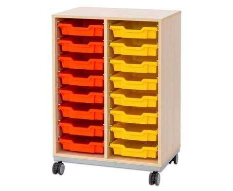 Flexeo Regal Pro mit Stahlrahmen 2 Reihen 16 kleine Boxen-10