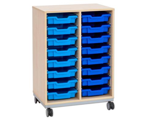 Flexeo Regal Pro mit Stahlrahmen 2 Reihen 16 kleine Boxen-11