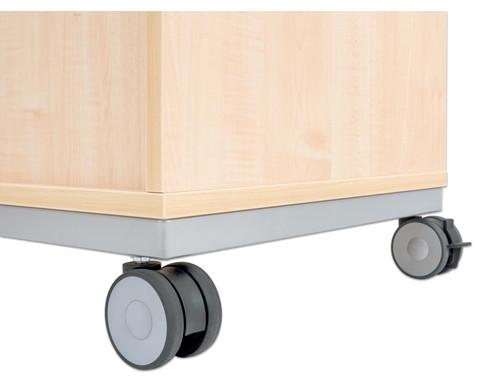Flexeo Regal Pro mit Stahlrahmen 2 Reihen 16 kleine Boxen-15