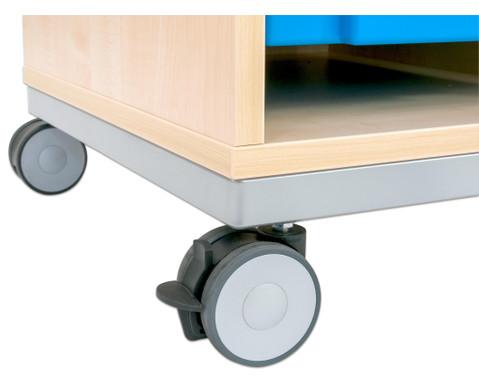 Flexeo Regal Pro mit Stahlrahmen 3 Reihen 16 Boxen-6