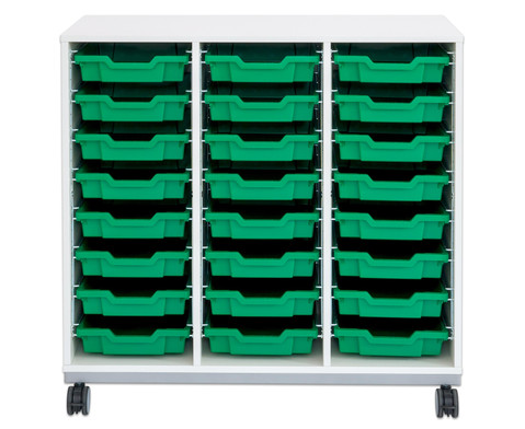 Flexeo Regal Pro mit Stahlrahmen 3 Reihen 16 Boxen-11