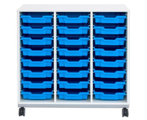 Flexeo Regal Pro mit Stahlrahmen 3 Reihen 16 Boxen-13