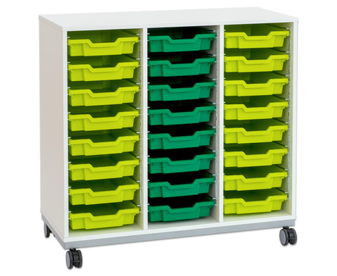 Flexeo Regal Pro mit Stahlrahmen 3 Reihen 16 Boxen-16