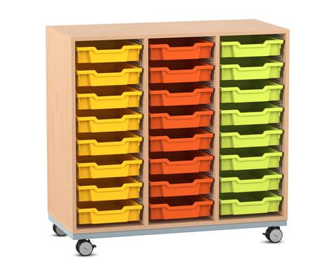 Flexeo Regal Pro mit Stahlrahmen 3 Reihen 24 Boxen
