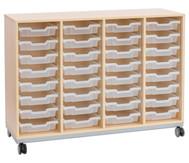 Flexeo Regal Pro mit Stahlrahmen, 4 Reihen, 32 Boxen