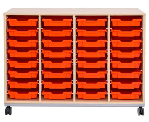 Flexeo Regal Pro mit Stahlrahmen 4 Reihen 32 Boxen-7