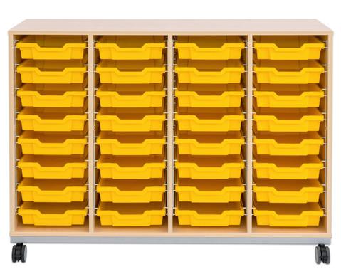 Flexeo Regal Pro mit Stahlrahmen 4 Reihen 32 Boxen-8