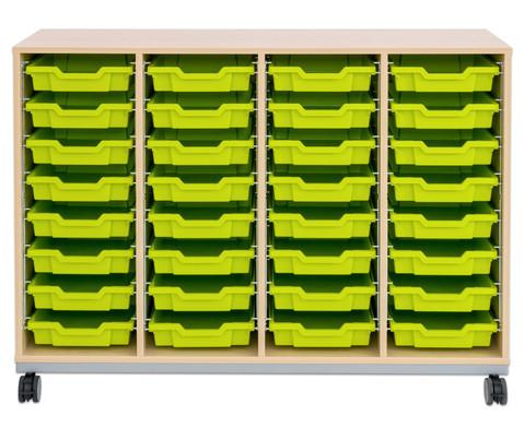 Flexeo Regal Pro mit Stahlrahmen 4 Reihen 32 Boxen-9