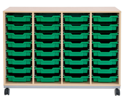 Flexeo Regal Pro mit Stahlrahmen 4 Reihen 32 Boxen-10