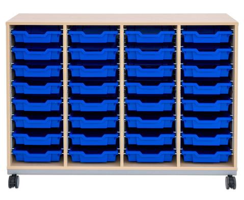 Flexeo Regal Pro mit Stahlrahmen 4 Reihen 32 Boxen-11